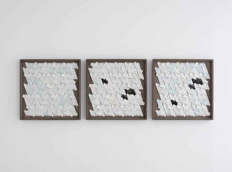 Folded Porcelain, Triptych_front